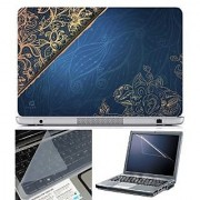 FineArts Laptop Skin Abstract Series 1072 With Screen Guard and Key Protector - Size 15.6 inch