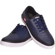 Sukun Navy Blue Black Casual Shoes For Men