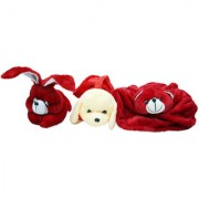 GoodEase Soft Toy Dog and With Rabbit Hand Plush Kids Animal Toy.