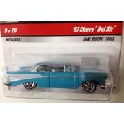Hot Wheels Larrys Garage / Lt. Blue 57 Chevy Bel Air / #9 Of 20 / 2008