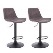 Hawaj 2x Barová židle Hawaj CL-18022 tmavě šedá