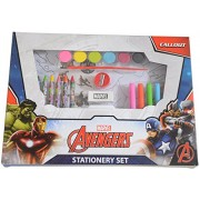 HMI Disney & Marvel Art and Craft Coloring Stationery Set in Mickey Mouse, Cinderella, Avengers, Spider-Man and Princess Characters, 30 pieces, Multi Color (Avengers)