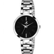 Espoir Analog Stainless Steel Black Dial Girl's and Women's Watch - ManishaBlack0507