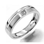Prsten s diamantem , bílé zlato 386-1183 elegantní Gems Gabriela