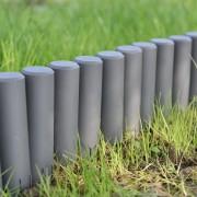 [casa.pro] Empalizada para jardín - Set de 40 unidades - separadores para césped - gris oscuro Longitud 1080cm