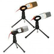 Condenser Microphone Mic Sound Studio with Recording Tripod Shock Mount