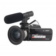KOMERY videocámara 3,0 pulgadas LCD pantalla táctil 16X Zoom Digital 24 millones de píxeles 1080 P cámara de vídeo con WIFI micrófono LANG
