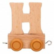 Geen Houten trein met de letter H