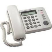 Panasonic Kxts560ex1w Telefono A Filo Con Display Lcd E 50 Memorie Bianco Kx-Ts560ex1b