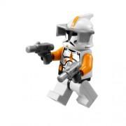 Clone Commander Cody Lego Star Wars Minifigure with Grey Visor and 2 Grey Blasters