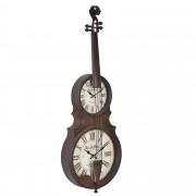 Стенен часовник [en.casa]® Струнен инструмент - с аналогови стрелки - 47 x 6 x 62 см. - цветен - стъкло
