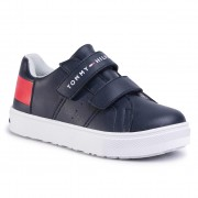 Сникърси TOMMY HILFIGER - Low Cut Velcro Sneaker T3B4-30719-0193 M Blue/White/Red Y004