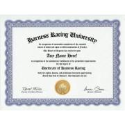 Harness Racing Horse Race Gambling Degree: Custom Gag Diploma Doctorate Certificate (Funny Customized Joke Gift - Novelty Item)