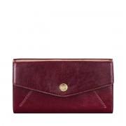 Maxwell-Scott große Damen Leder Geldbörse mit Bügelverschluss in Weinrot - Marcialla - Brieftasche, Portemonnaie, Geldbeutel, Kreditkartenetui