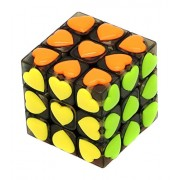 Little Treasure Love Cube Puzzle Game with a Cute Heart Shaped Tile of Different Colors with 54 Tiles Each