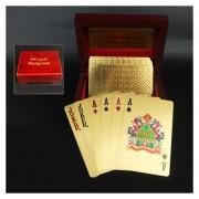 Creative Frosted Golden Tattice Textura De Plástico De Las Vegas A Macao Naipes De Poker Texas Con Caja De Regalo