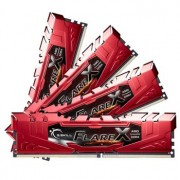 Memorie G.Skill Flare X Red 32GB (4x8GB) DDR4 2400MHz CL15 1.2V AMD Ryzen Ready Dual Channel Quad Kit, F4-2400C15Q-32GFXR