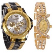 TRUE CHOICE Rosra couple watches for menwomen bk/gd +x ALL