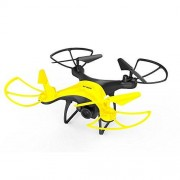 ZZH Drones with Camera 480P,UAV High Performance 20min Altitude Hold Speed Adjustable Quadcopter Drones for Kids Adults Beginners_Yellow