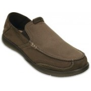 Crocs Walu Luxe Canvas Loafer M Loafers For Men(Brown)