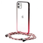 Transparent Baseus Protective Case For Iphone 11 6.1 (Red)