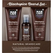 Aktion - Man Cave Blackspice Beard Set Bartpflege