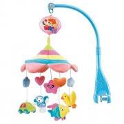 HOSIM Cot Crib Bell Musical Take Along Mobile Soft Cute Plush Rotate Animals with 20 Melodies Music Infant Educational Toy Nursery Decor (FRU)
