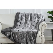 Fusion Homeware £12.99 instead of £69.99 (from Fusion Online) for a crushed velvet teddy fleece throw - save 81%