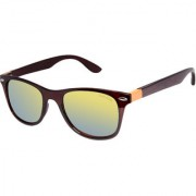 David Blake Yellow Wayfarer Mirrored UV Protection Sunglass