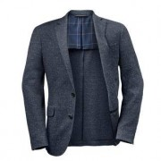 Hackett Donegal Tweed Jersey Sports Jacket, 36 - Blue