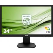 "Philips S-line 243S5LDAB - LED-monitor - 24"" (23.6"" zichtbaar) - 1920 x 1080 Full HD (1080p) - 1000:1 - 1 ms - HDMI, DVI-D, VGA"