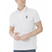 US Polo Assn Patched Logo Tipped Polo Shirt White