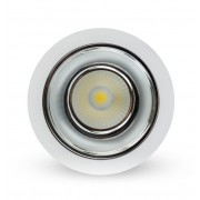 LED down light 10W 6500K lux alu-beli cob