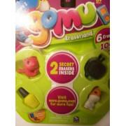 Gomu Series 1 Set Of 6 Erasers (Seal, Nail Polish, Hamster, Tv) + 2 Mystery
