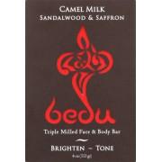 Bedu Face and Body Bar - Sandalwood and Saffron - Case of 6 - 4 oz.
