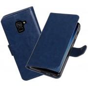 BestCases - Donker Blauw Portemonnee booktype hoesje Samsung Galaxy A8 Plus 2018