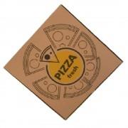 Cutie Pizza Natur Model Fresh, 28x3.5x28 cm, 100 Buc/Bax - Ambalaj din Carton Maro