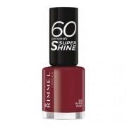 Rimmel 60 Seconds Super Shine Nail Polish 320 Rapid Ruby 8ml