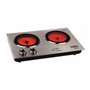 Plita electrica Samus PX202C, 2400 W, 2 arzatoare, Inox
