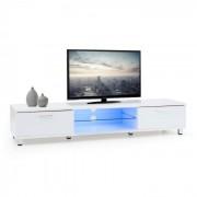 Keira Lowboard Móvel Mesa de TV LED Colorido Controlo Remoto Branco