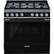 SMEG CPF9GMBL Cucina a Gas Forno 115Lt Grill Nero