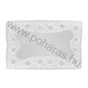 Szögletes tortacsipke [30x43cm] (Fehér)