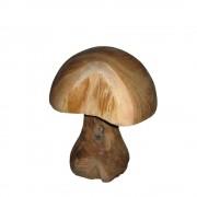 Deko Pilz aus Teak 33 cm