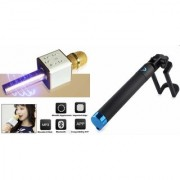 Mirza Q7 Microphone and Selfie Stick for SONY xperia m5 dual(Q7 Mic and Karoke with bluetooth speaker   Selfie Stick )