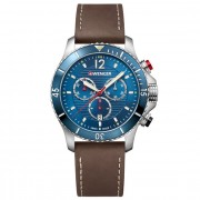 Wenger Seaforce Cronógrafo acero inoxidable blue-brown