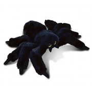 Puzzled Black Spider Super-Soft Stuffed Plush Cuddly Animal Toy - Animals / Wild Animals / Insects Theme - 7 INCH - Unique huggable loveable New friend Gift - Item #5782
