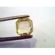 2.23 Ct Unheated Untreated Emerald Cut Natural Ceylon Yellow Sapphire