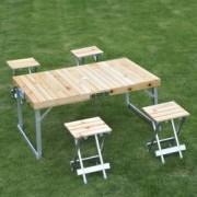 Set mobilier pliabil picnic masa + 4 scaune aluminiu - Germania