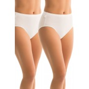 Womens Sloggi Hikini 2Pack - White Lingerie