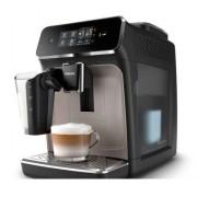 Espressor automat Philips EP2235/40, 12 setari de macinare, 15 bar, 3 setari pentru intensitate, 3 tipuri de bauturi , Filtru AquaClean, Ecran tactil, Argintiu/Negru + Set Pahare Espresso
